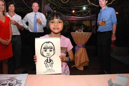 Caricature live sketching for Mark and Ivy's wedding solemization - 15