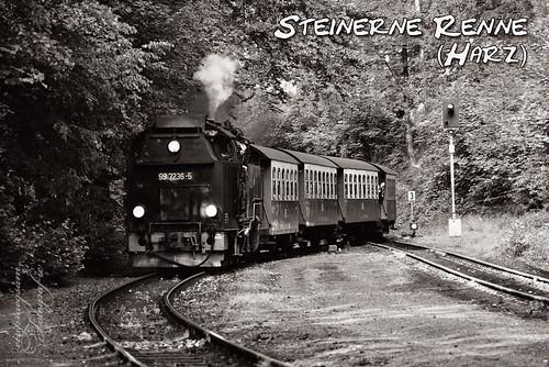 Steinerne Renne - Dampflok im Harz