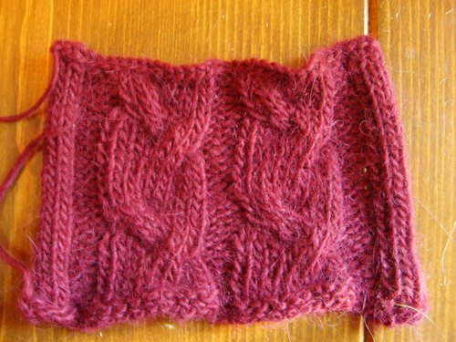 Cabled swatch