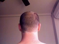 Head Shaving Accident (drapelyk) Tags: haircut hair funny accident head shaved shaving
