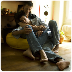 S&C (fesign) Tags: gay friends man paris men guy love home french couple guys relationship barefoot parisians gaycouple