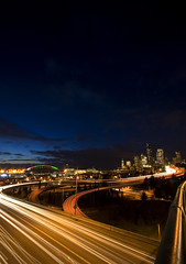 Seattle (TroyMasonPhotography) Tags: seattle longexposure blue washington i5 freeway pugetsound seahawks qwestfield amazoncom i90 pacmed 1on1