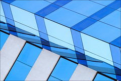 BA Blue Abstract (♫ marc_l'esperance) Tags: abstract geometry building abstraction minimalist graphic minimal geometric architecture glass concrete lines reflections angles rectangles diagonal blue shades architectural detail canon eos 10d raw puertomadero buenosaires argentina 2007 cml canonef70200mmf28lusm canon70200f28l abstractart iso100 © allrightsreserved mywinners luxmaticcom