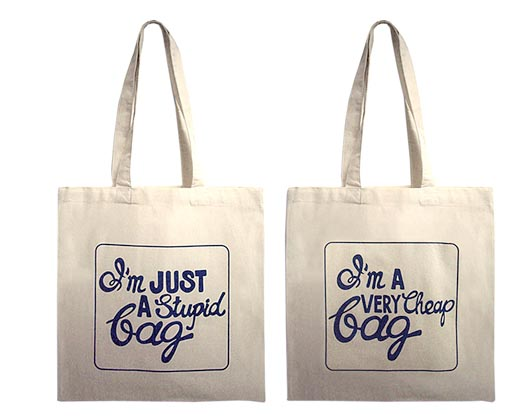 not a plastic bag, anya hindmarch, chic and charming, stupid bag
