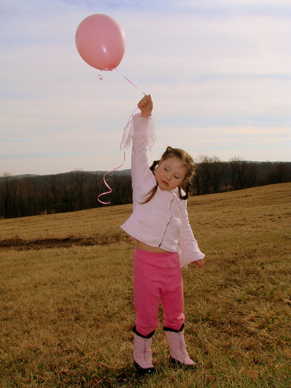 Releasing a special birthday balloon