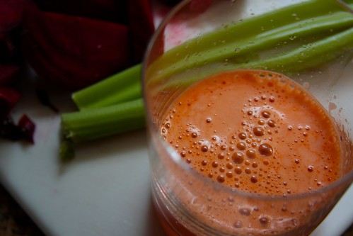 juicing the carrots first