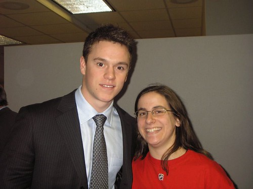 With Jonathan Toews