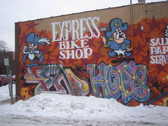 Express Bike Shop Mural by Gabe Combs