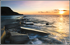 IMG_2576 (Simon J Byrne) Tags: longexposure sunset sea sky water clouds rocks waves dorset kimmeridge