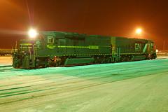412 at Proctor (Schnauf) Tags: winter snow night dark evening duluth dmir tunnelmotor sd40t2