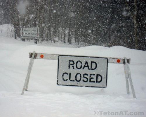 Moose Wilson Road- Closed