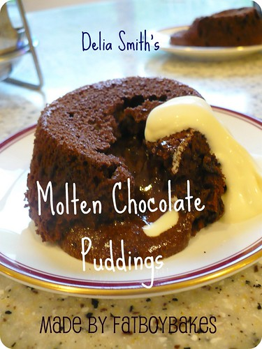 Delia's Molten Chocolate Puddings