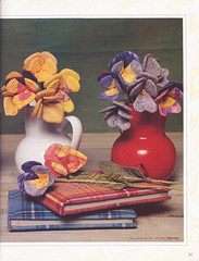 Textile flowers, japan crafts book