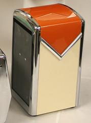 """restored orange white diner napkin dispenser SOLD • <a style=""""font-size:0.8em;"""" href=""""http://www.flickr.com/photos/85572005@N00/2312070636/"""" target=""""_blank"""">View on Flickr</a>"""