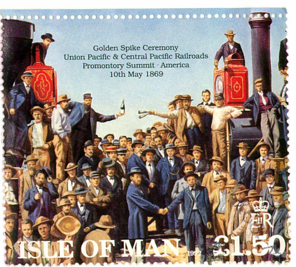 golden spike stamp