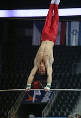 Fabian Leimlehner - high bar training 5 (roflmeter) Tags: red shirtless male college sports muscle ripped young hunk gymnast gymnastics fabian gym defined parallelbar pommelhorse highbar artisticgymnastics stillrings fabianleimlehner leimlehner