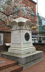 Poe's Grave (NatalieMaynor) Tags: poe edgarallanpoe westminster westminsterburialground cemetery graves tombstones graveyard baltimore maryland