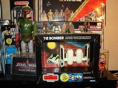 Vintage 1977-1984 Star Wars Toys, Kenner Die Cast TIE Bomber (Darryl W. Moran Photography) Tags: vintage toys starwars 1982 collection stormtrooper 1981 kenner 1978 1983 vader 1977 1980 1979 empirestrikesback returnofthejedi skywalker fett