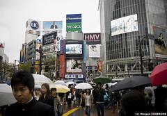 Shibuya @ Daytime (~Morgan) Tags: japan tokyo rainyday shibuya pluie daytime japon journe ©morgancugerone 200803301534552376