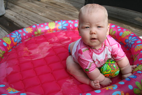 Leah in the pool