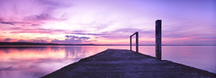 ... (zane&inzane) Tags: sunset landscape australia panoramic hasselblad nsw ultrawide xpan 30mm longjetty auselite excellentscenic epsonpano