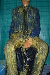 Shirt Covered (splishsplash1123) Tags: messy wam gunge shirtandtie