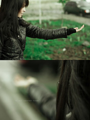 I saw rain (bagirka's twilight) Tags: green grass rain portraits spring dof bokeh  goldenheartaward