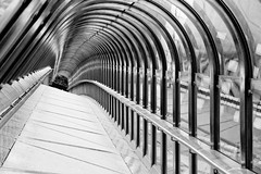 Japan Bridge in black and white (jbarry5) Tags: japanbridge ladefense paris travelphotography travel geometry blackandwhite monochrome abstract