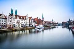 Lübeck Skyline (with making of) (Duke.Box) Tags: luebeck schleswigholstein nikon nikon1024mm haida graufilter ndfilter langzeitbelichtung hafen wasser stadt city hansestadt hansestadtlübeck trave