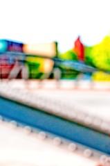 Bridge - sliding edition (MoreThanOneView) Tags: bridge color colour metal germany blurry hamburg hh material brcke metall farbe verkehr unscharf hss fototechnik