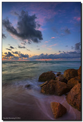 Quiet Morning (Fraggle Red) Tags: clouds sunrise dawn twilight rocks florida boulders miamibeach southbeach canonef1740mmf4lusm hdr miamidadeco dphdr