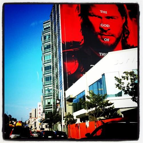Thor sign ad advertisement billboard drollgirl