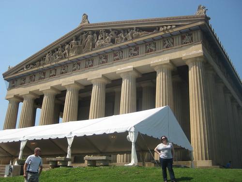 Me outside the Parthenon