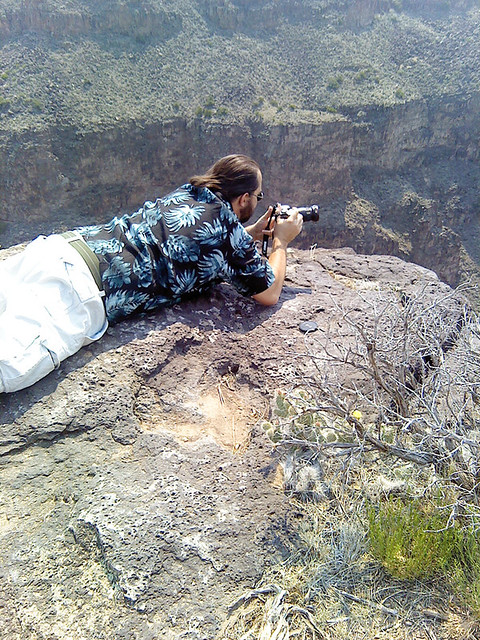 Eric Howton Photographing Rio Grande Gorge, Taos, NM 2011