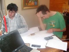 Bert & dwain doing maths exam prep in Hogsback