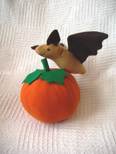 Fruit Bat and Pumpkin