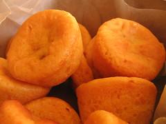 Sweet Potato Doughnuts with Roast Apple Filling