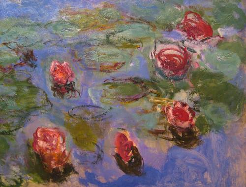 Monet, Water Lilies (detail), 1914-17