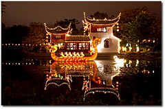 Chinese Lantern Festival (Vitor Rodrigues) Tags: reflection water festival night garden botanical lights boat dragon quebec montreal chinese lantern chineselanternfestival