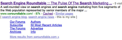 Google Sitelinks Update