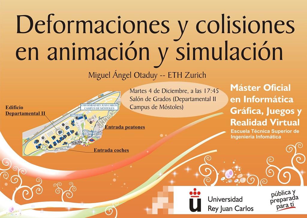 Charla: Deformaciones y colisiones en animación y simulación