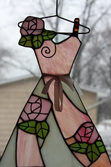 Dress on Hanger (Stained Glass)