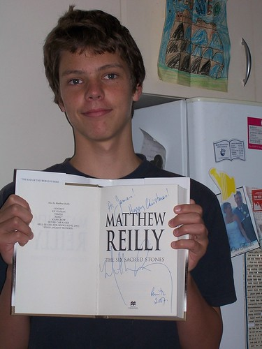 Matthew Reilly book fan photo
