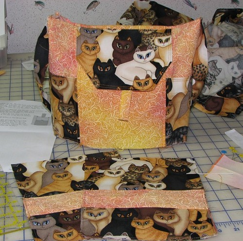 cat purse in progress