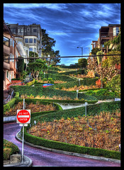 Lombard Street (vgm8383) Tags: sanfrancisco street flowers sky clouds canon rebel bricks curves bluesky oneway slope hairpin steep donotenter redbrick switchbacks paved hedges lombardstreet crookedeststreet themoulinrouge electricallines blueribbonwinner steepness xti 400d abigfave rebelxti hairpincurves victorianmansions platinumphoto flickrplatinum superbmasterpiece worldscrookedeststreet flickrdiamond megashot theunforgettablepictures theperfectphotographer sharpcurves americascrookedeststreet