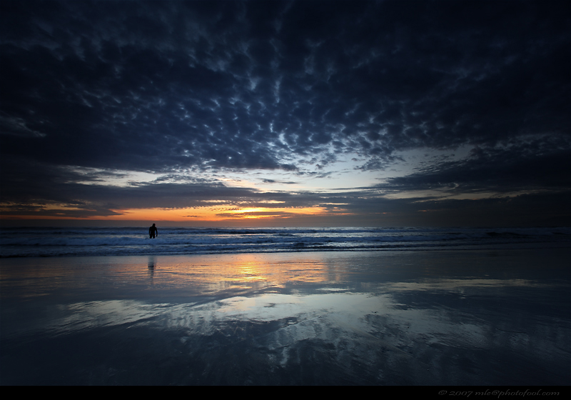 seascape beach twilight sunset cloud sand reflection santabarbara california photofool