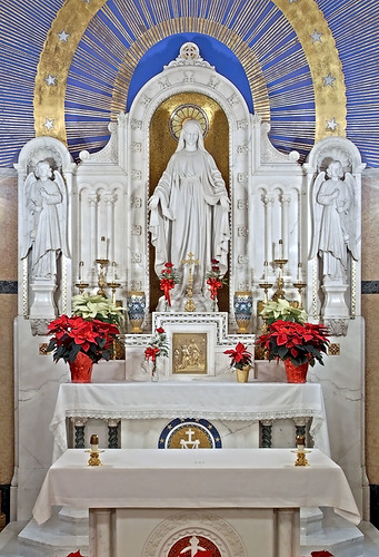 Saint Mary of the Barrens Roman Catholic Church, in Perryville, Missouri, USA - Shrine of the Miraculous Medal - altar