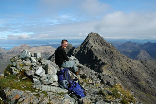 Ben on top of Bruach na Frithe