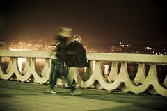 Night walk (koke) Tags: street people night movement spain acorua acoruña