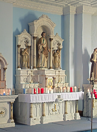 Saint Joseph Roman Catholic Church, in Bonne Terre, Missouri, USA - Joseph's altar